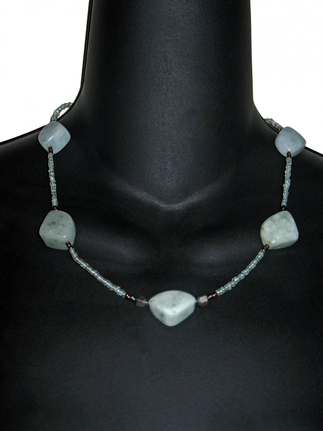 Sea Green Quartz Necklace Earrings Set