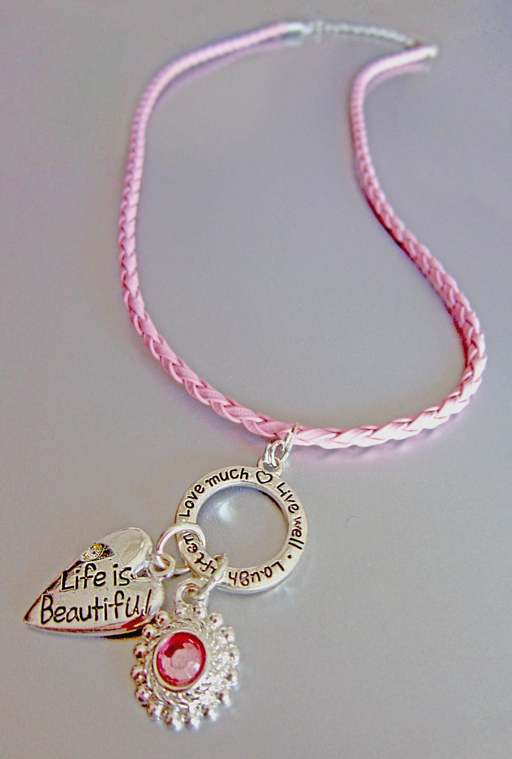 Express Yourself! Live.Laugh.Love Necklace