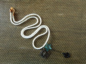 On the High Seas: Anchor Down! Nautical Charm Necklace