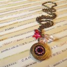 Victorian-inspired Locket Charm Necklace