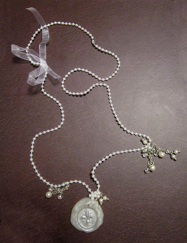 Sealed with Love: Fleur-de-Lis Wax Seal Necklace