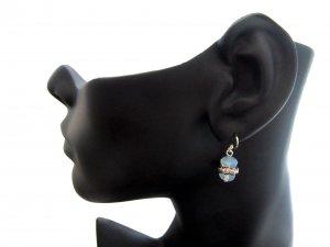 Moonstone Crystal Drop Earrings