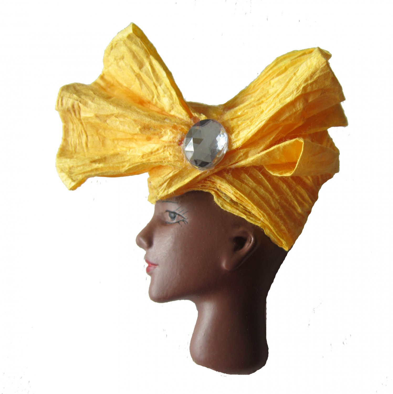 That's a Wrap: African Woman in Yellow Wrap Hat Brooch Pin �CLEARANCE�