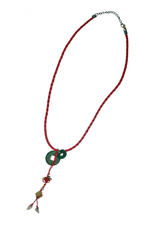 Chinese Good Luck Pendant in Tangerine Jade