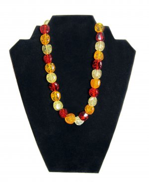 Faux Amber Pebble Necklace