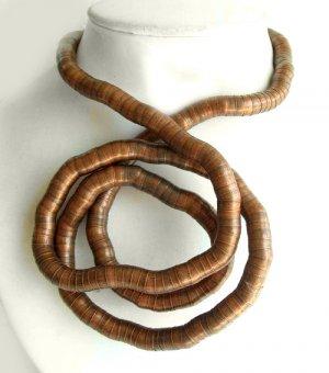 Bendable Bronze Snake Necklace Bracelet