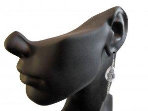 Crystal Chandelier Chain Tear Drop Earrings