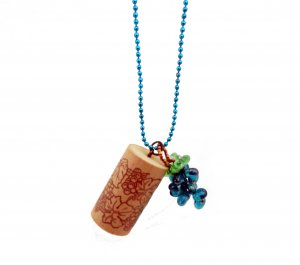 Put a Cork in It! Wine Country Pendant in Teal