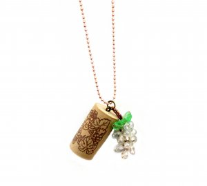 Put a Cork in It! Wine Country Pendant in Chardonnay White
