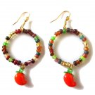 Glass Harvest Earrings - Carrot