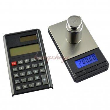 Digital Precision 200g x 0.01g Pocket Jewelry Carat Scale Balance w Calculator, Free Shipping