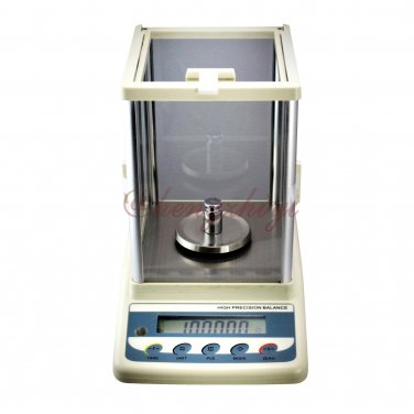 300g x 0.001g Precision Laboratory Balance + Shield + German Sensor + RS232 Interface + Weights 456