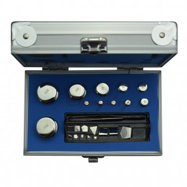 F2 Grade 23pcs 1mg-200g Calibration Weights Kit w Stainless Steel w Certificate, Free Shipping