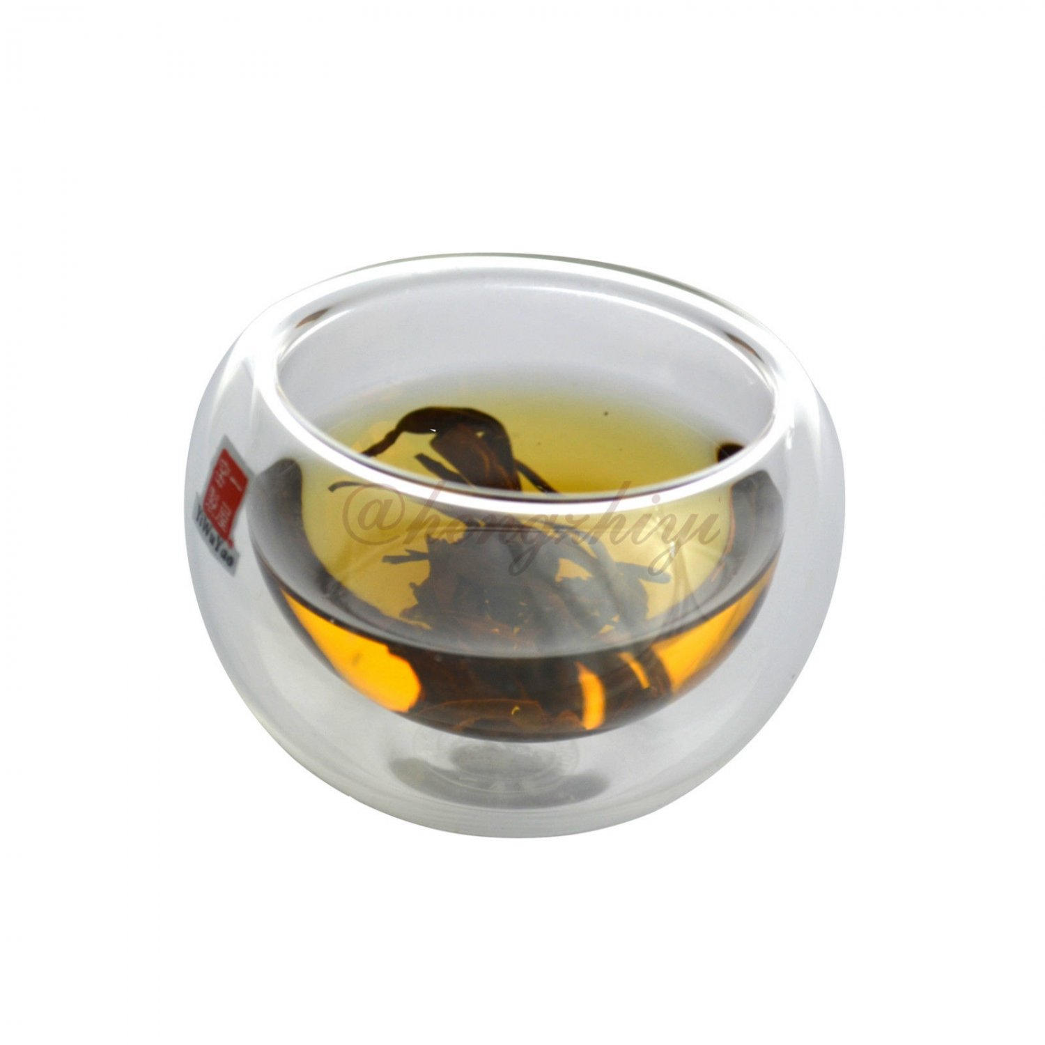 Handmade 50ml Double Layer Glass Tea Cup, Heat Insulation, Vacuum Cup, 6 Cups/Carton, Free Shipping