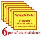Alert Stickers 6 pcs Wireless Home Security Alarm System House Alarm Security Signs Decals 6 pcs