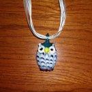 Lampwork Pendant Owl Necklace