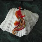 Sea Horse Lampwork Glass Murano Pendant