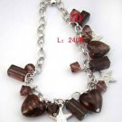 Murano Glass Crystal Charm Heart Bracelet Hot