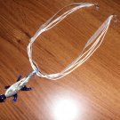 Blue Geiko Handcrafted Murano Lampwork Glass  Pendant Necklace