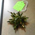Vintage Brooch Peridot Green Rhinestones, Signed Judy Lee, Costume Jewelry