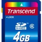 Transcend 4 GB Class 6 SDHC Flash Memory Card Free Shipping 2 Day in USA