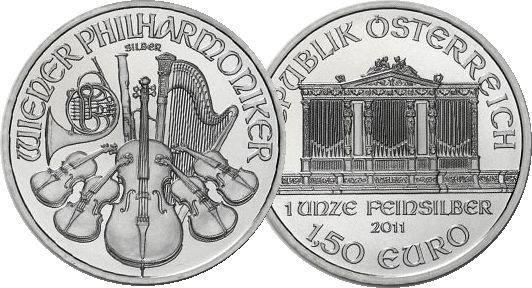 austrian philharmonic 1oz .999 silver coin