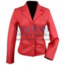 3 Button Red Short Blazer