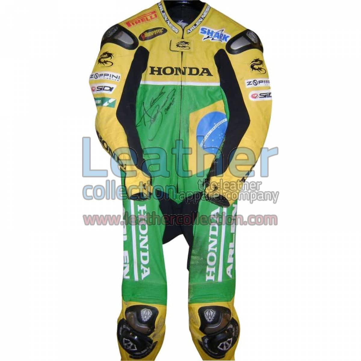 Alex Barros 2006 WSBK Klaffi Honda Leathers