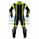 Alpha Neon Leather Motorbike Suit