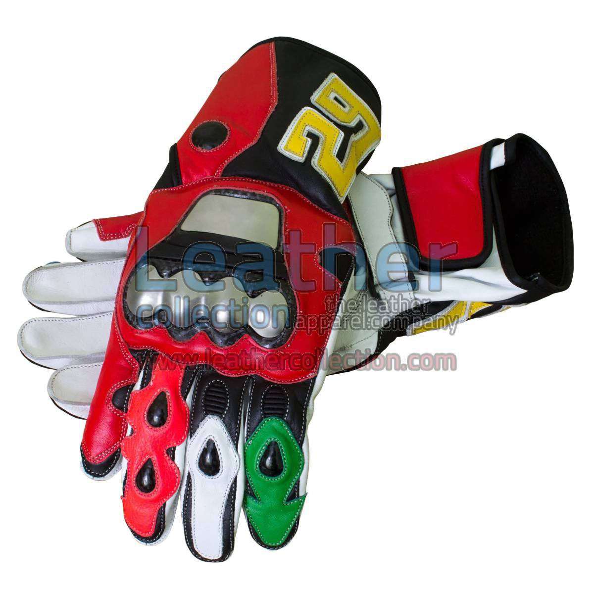 Andrea Iannone Motorbike Leather Racing Gloves
