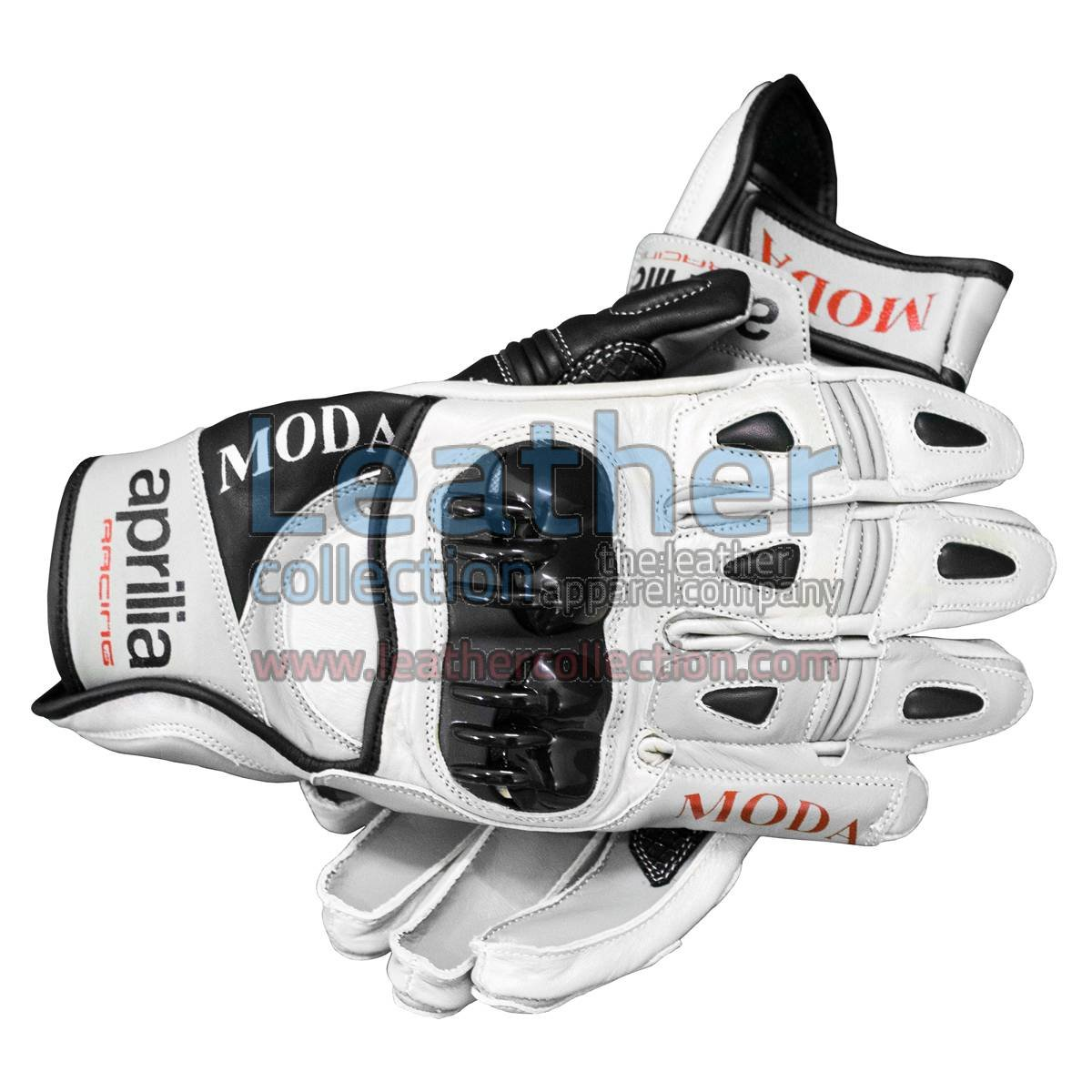 Aprilia Short Leather Riding Gloves