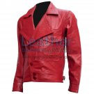 Aviator Red Biker Leather Jacket