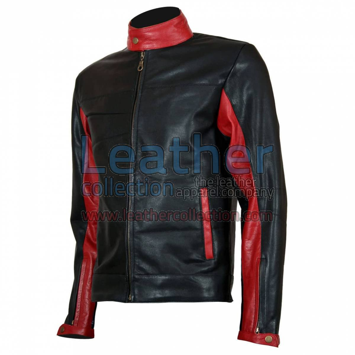 Batman Biker Black Leather Jacket