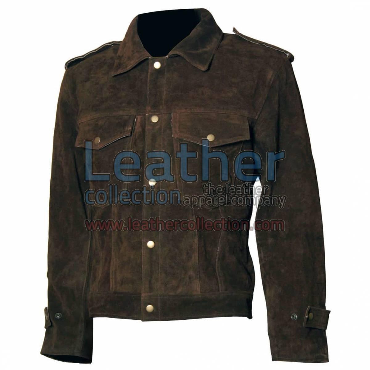 Beatles John Lennon Rubber Soul Brown Suede Leather Jacket