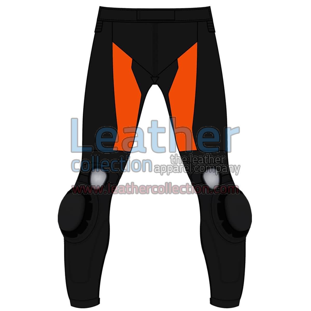 Bi Color Motorbike Leather Pant For Men