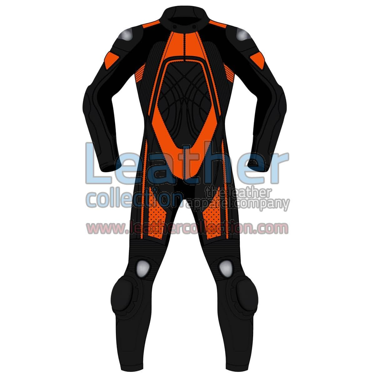 Bi Color One-Piece Motorbike Leather Suit For Men