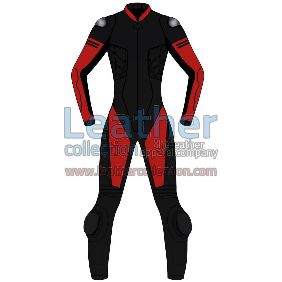 Bi Color One-Piece Motorbike Leather Suit For Women