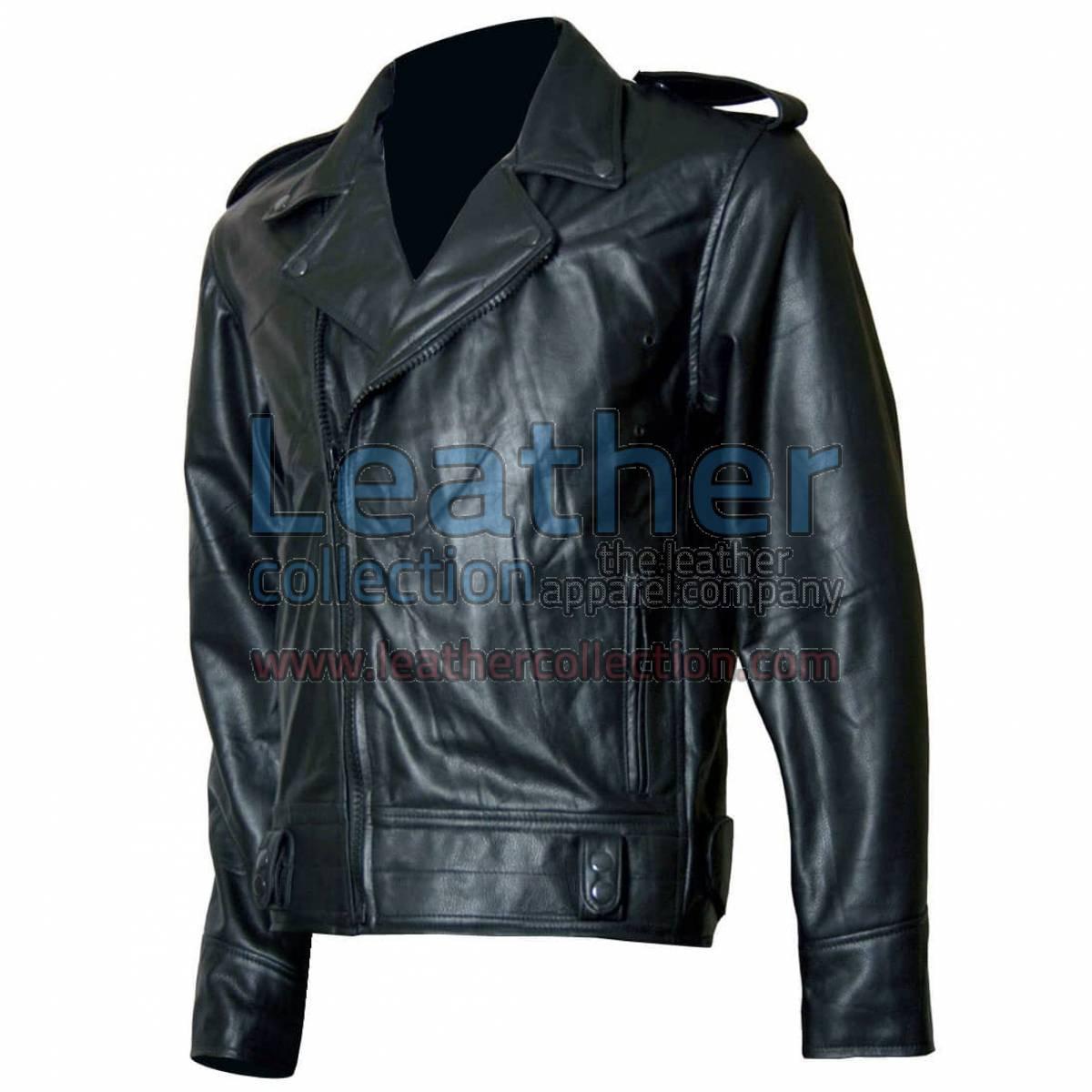 Biker Boyz Smoke Biker Black Leather Jacket