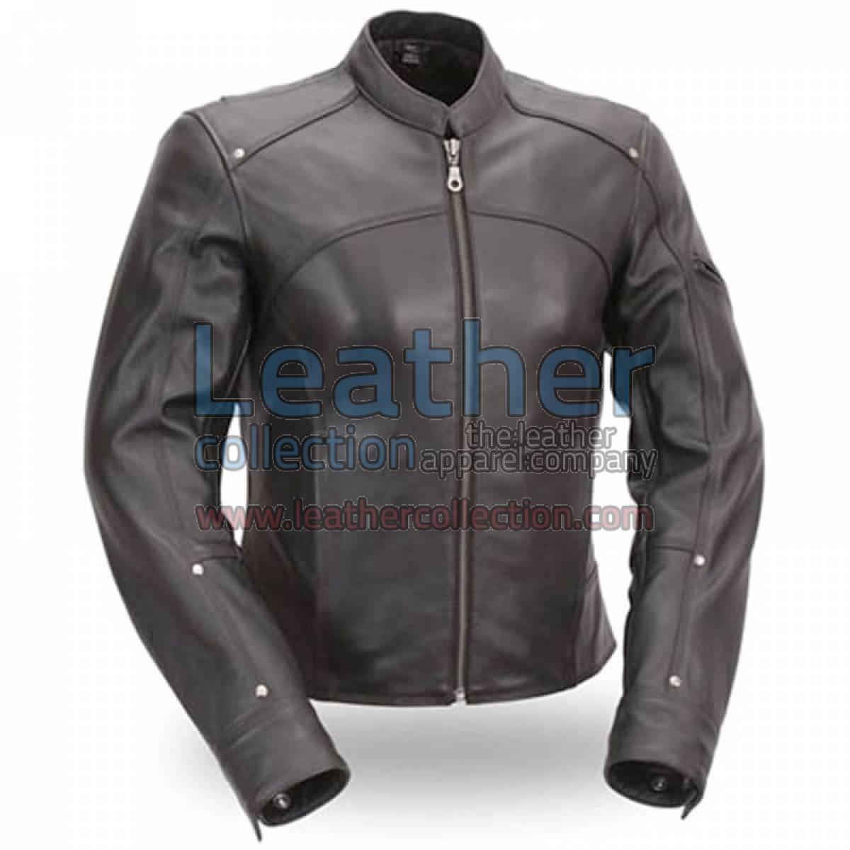 Black Leather Touring Motorcycle Jacket