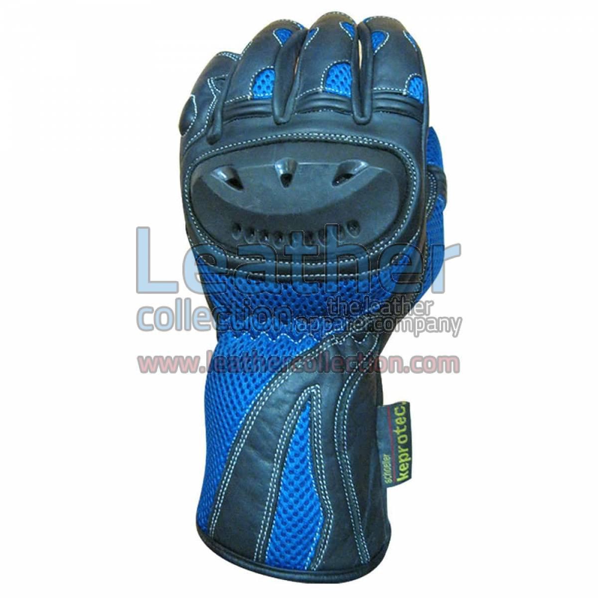 Blue Shadow Moto Racing Gloves