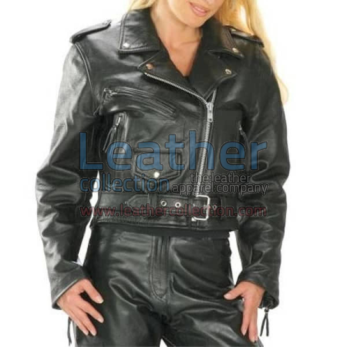 Brando Women Biker Leather Jacket