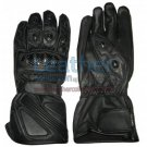 Bravo Black Leather Riding Gloves