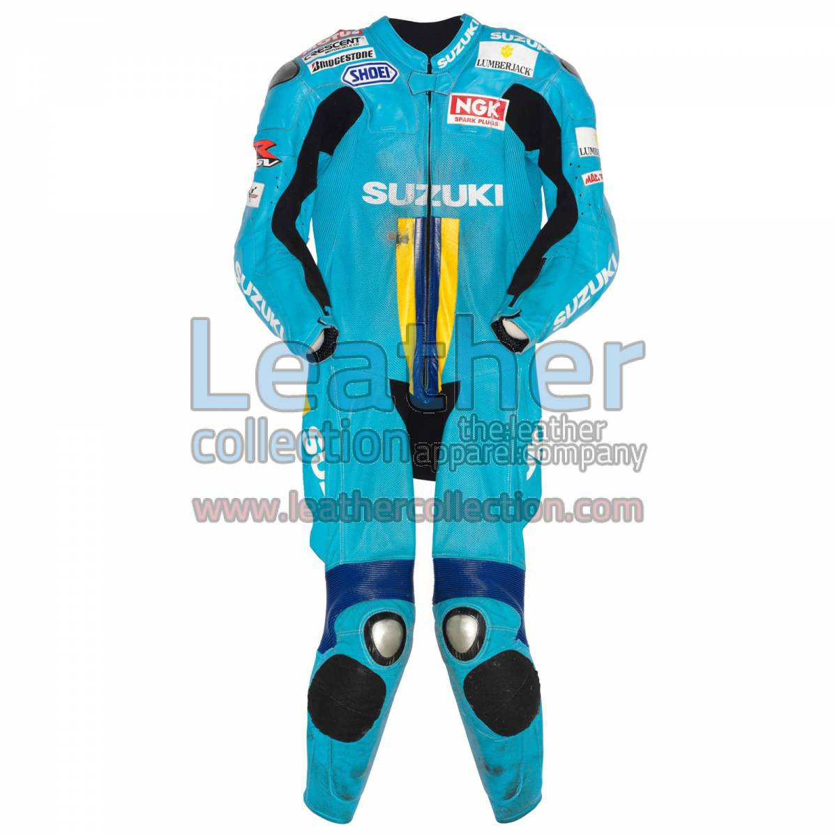 Chris Vermeulen Suzuki MotoGP 2007 Leather Suit