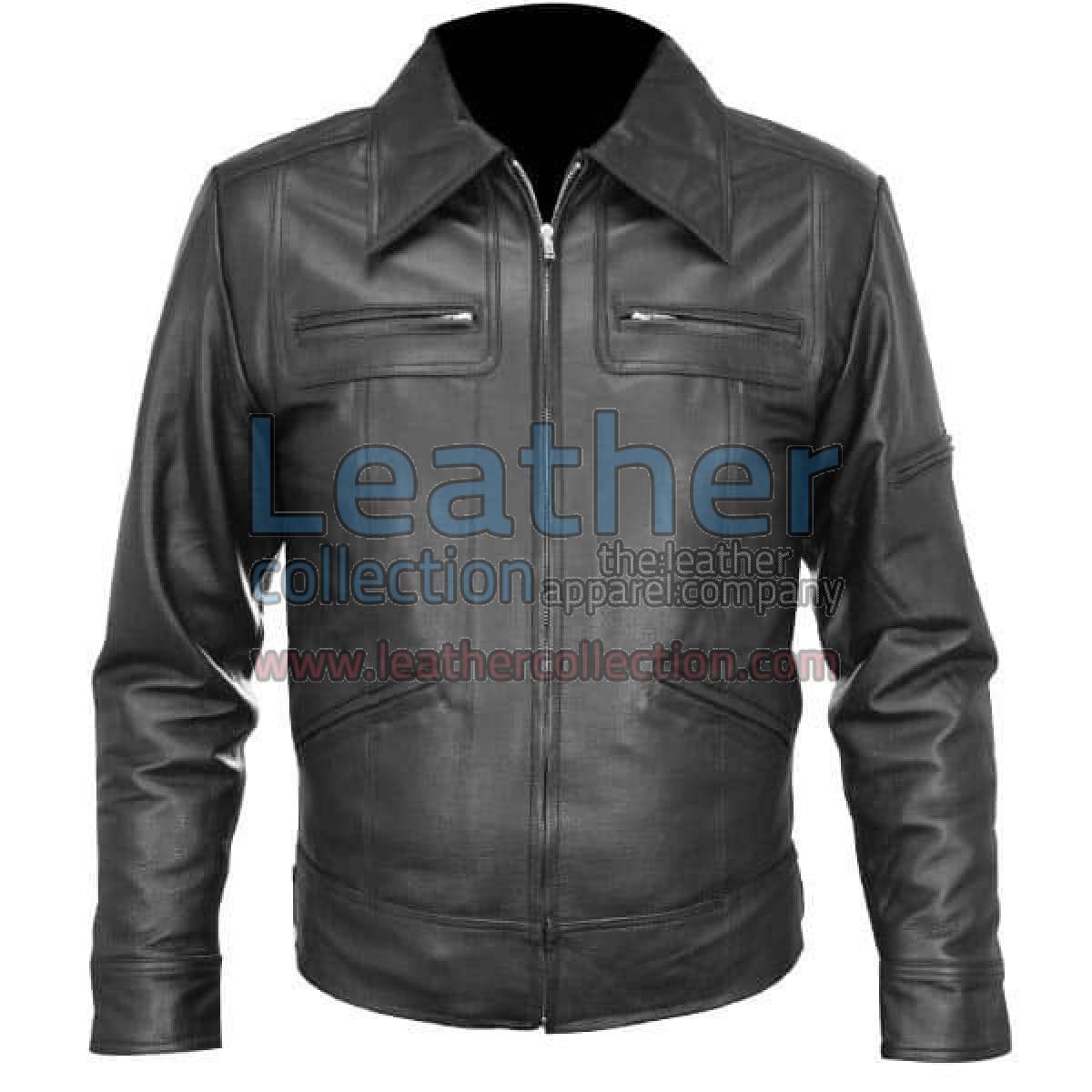 Classic Shirt Style Leather Jacket