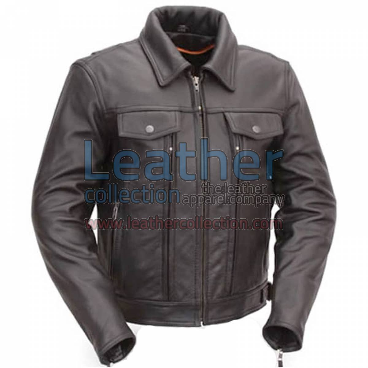 Cruiser Motorcycle Jacket with Dual Utility Pockets