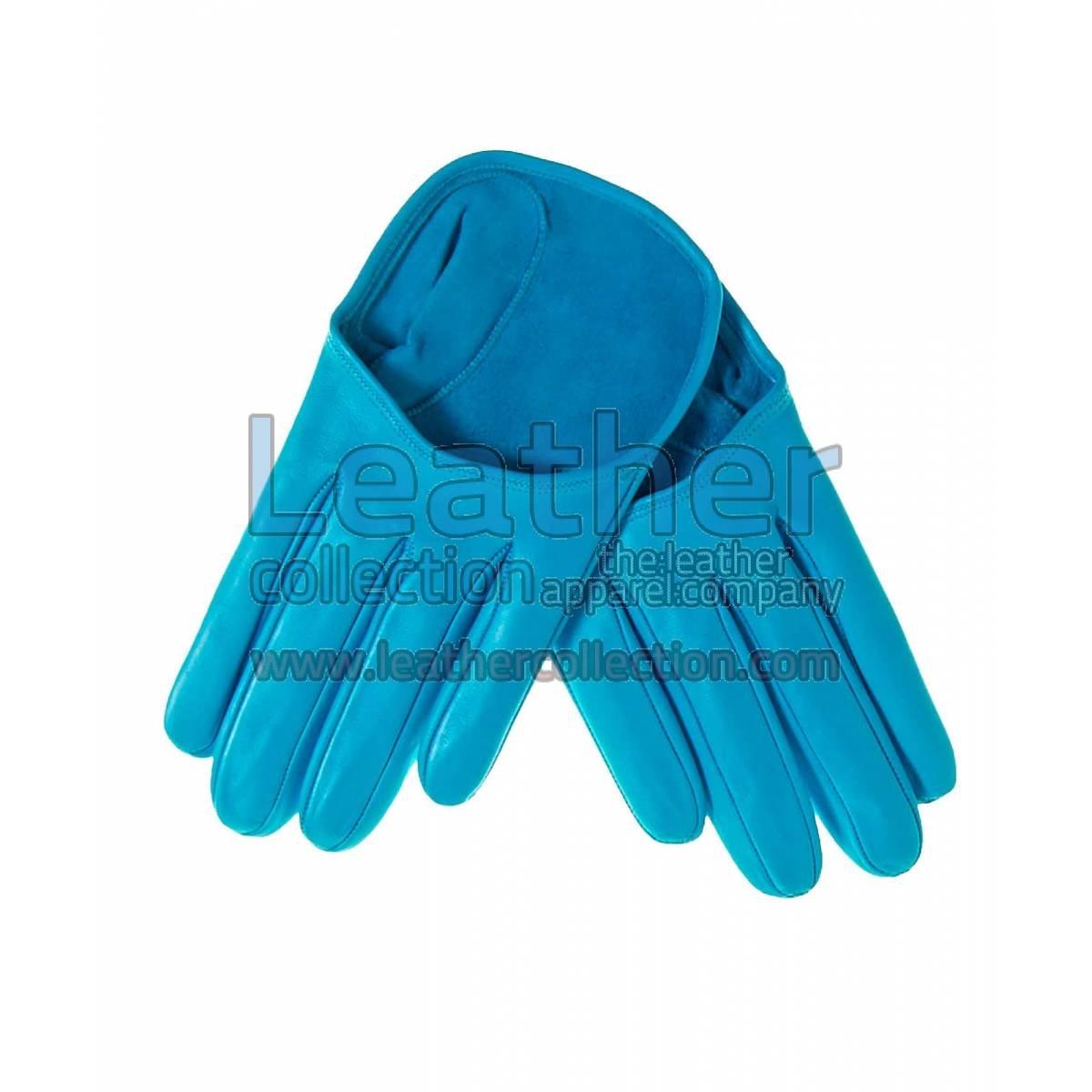 Cyan Fashion Short Leather Gloves