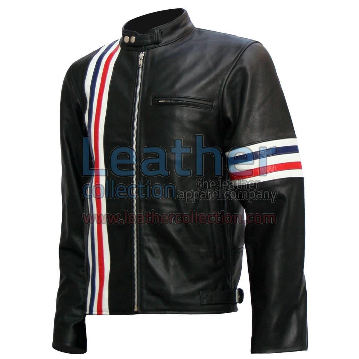 Easy Rider Captain America Biker Black Leather Jacket
