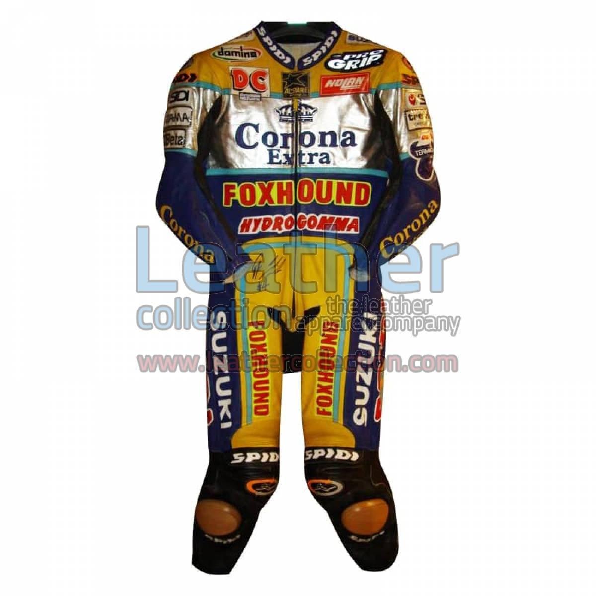 Fabrizio Pirovano Suzuki Corona Leather Suit 1998 WSBK
