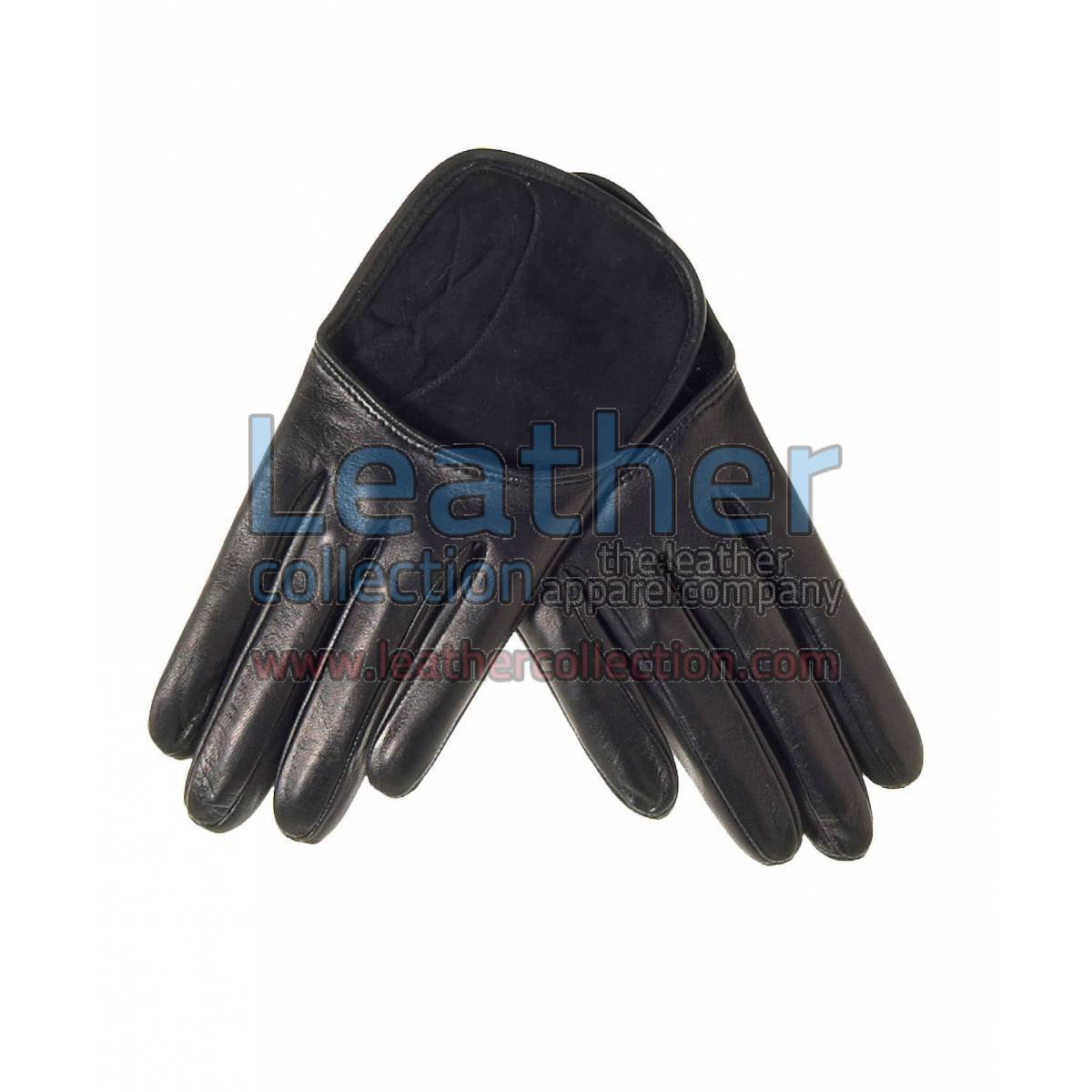 Fashion Black Short Leather Gloves