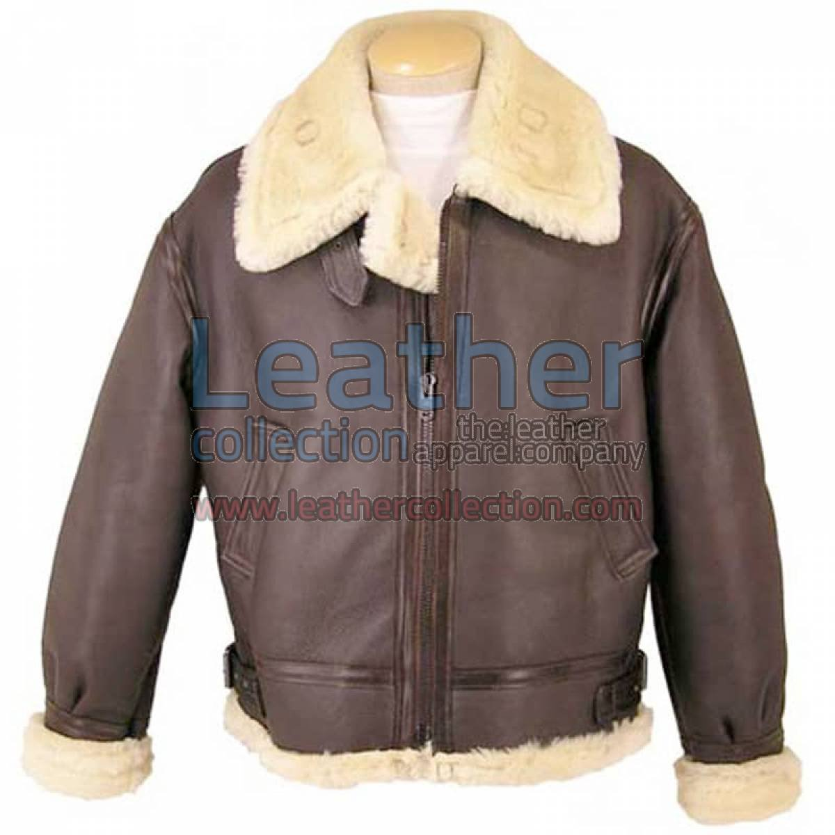 Fur Lined Leather Brown Jacket